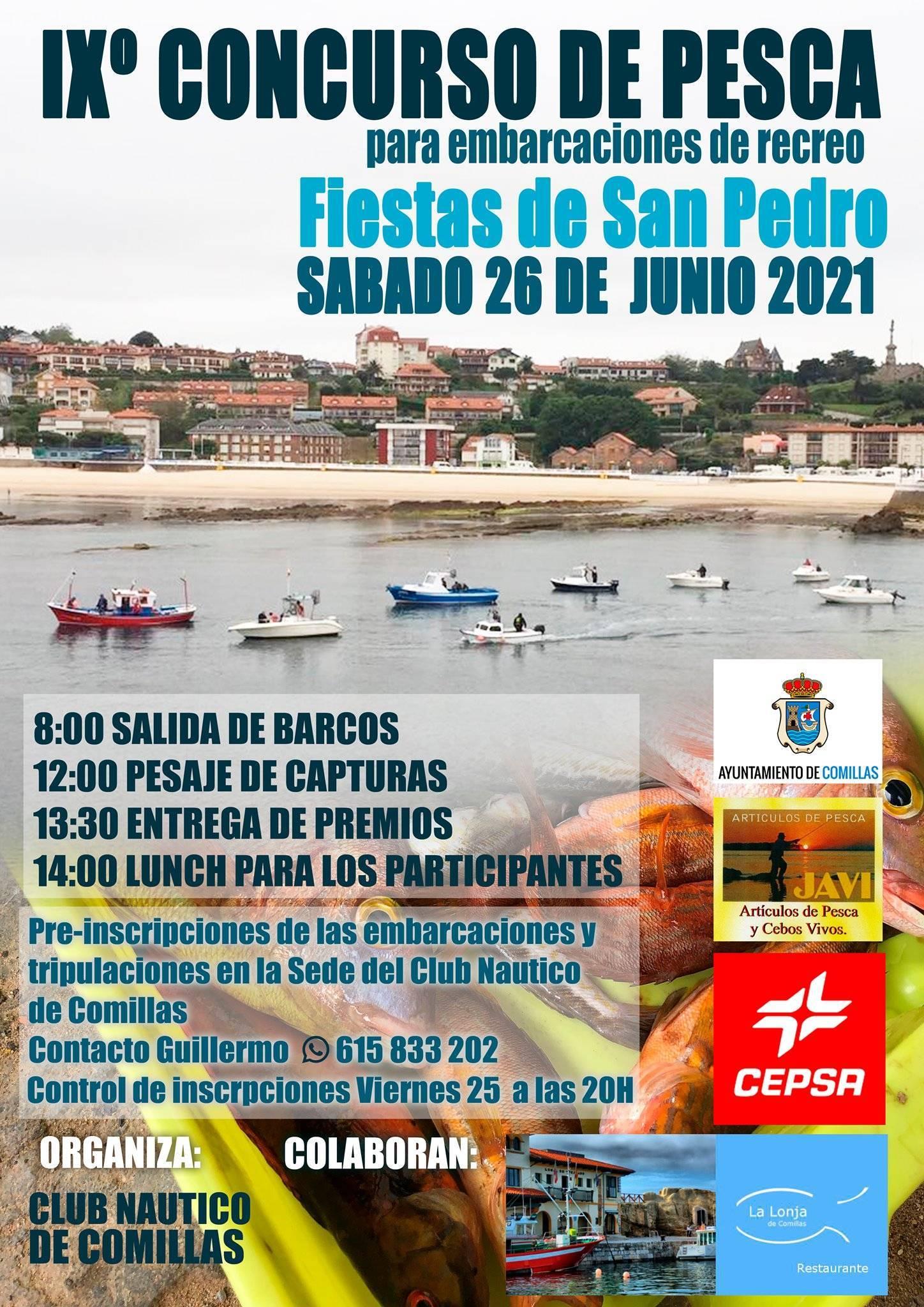 IX concurso de pesca para embarcaciones de recreo - Comillas (Cantabria)