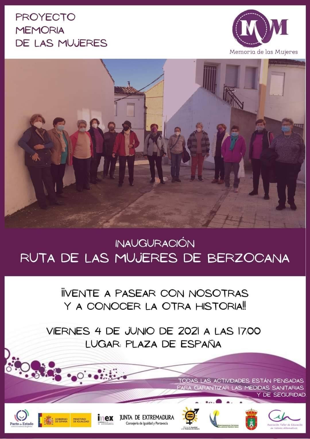 Inauguración de la ruta de las mujeres (2021) - Berzocana (Cáceres)