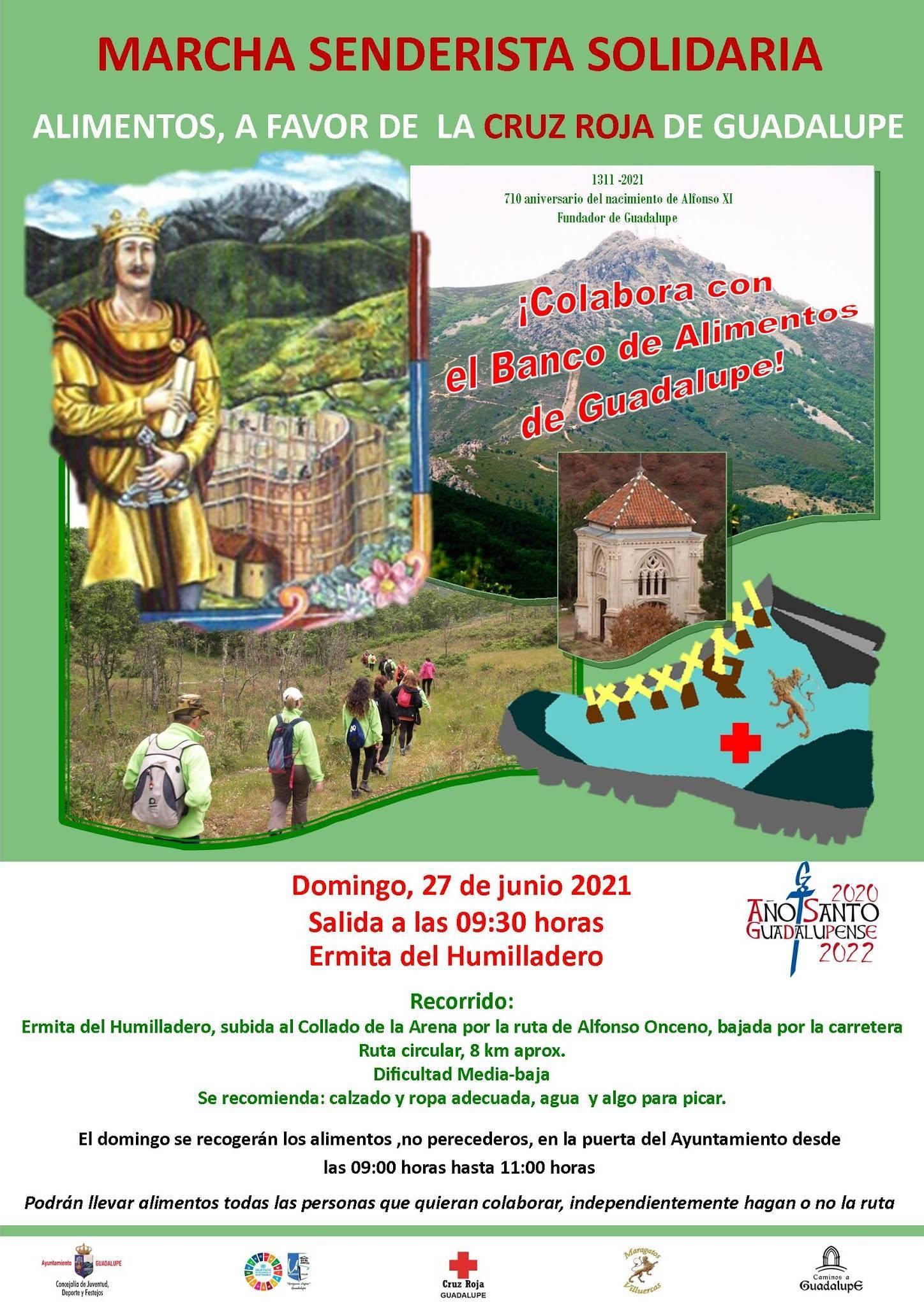 Marcha senderista solidaria (junio 2021) - Guadalupe (Cáceres)