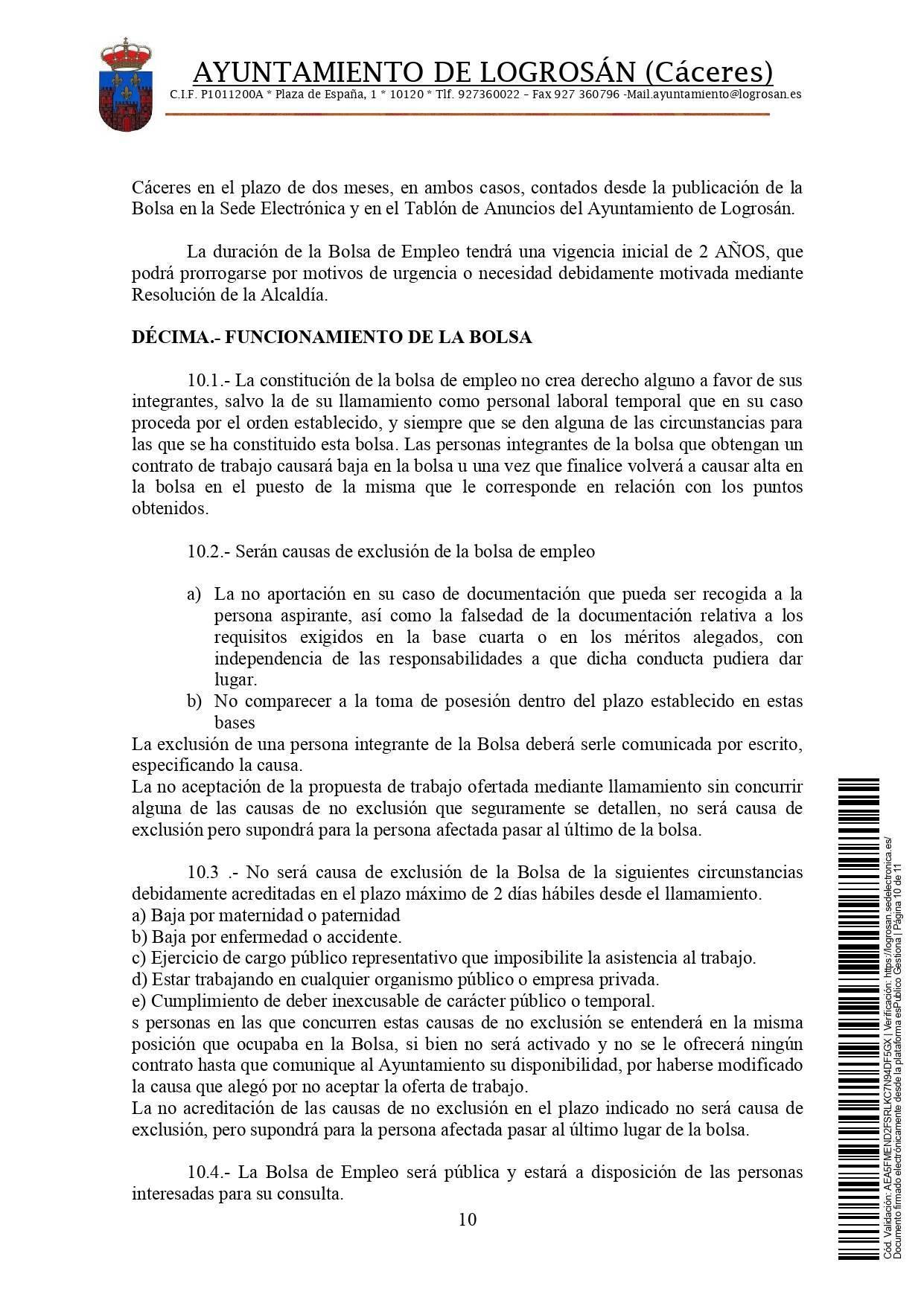 Bolsa de técnicos-as en educación infantil (2021) - Logrosán (Cáceres) 10