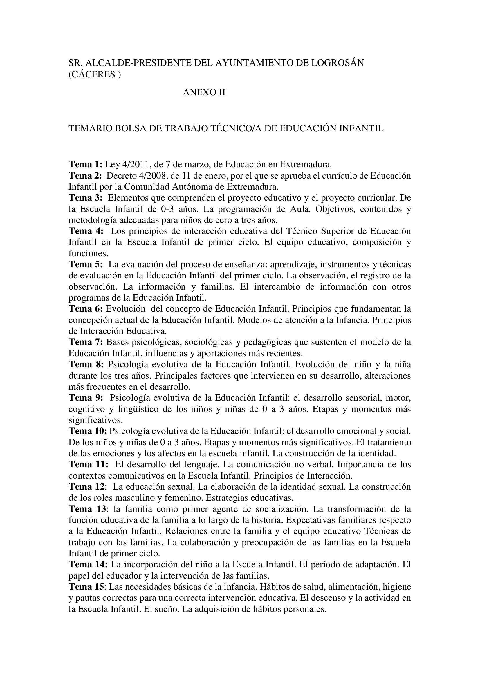 Bolsa de técnicos-as en educación infantil (2021) - Logrosán (Cáceres) 13