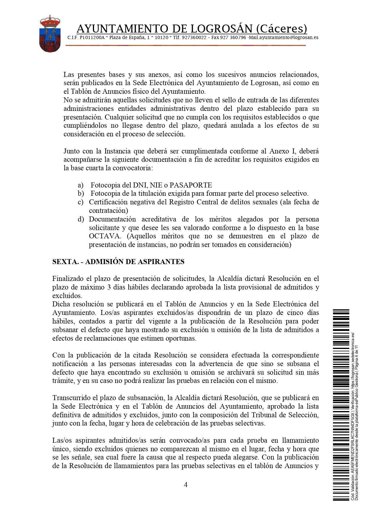 Bolsa de técnicos-as en educación infantil (2021) - Logrosán (Cáceres) 4