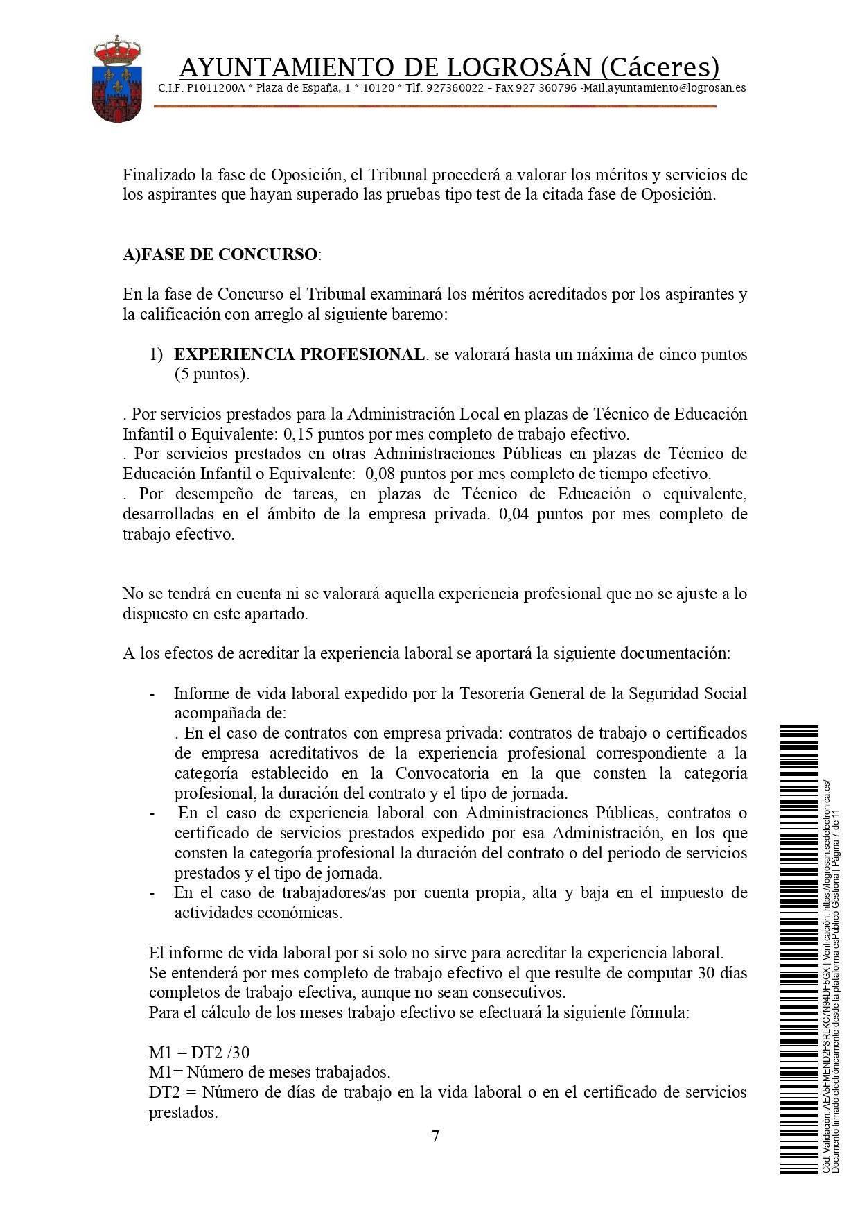 Bolsa de técnicos-as en educación infantil (2021) - Logrosán (Cáceres) 7