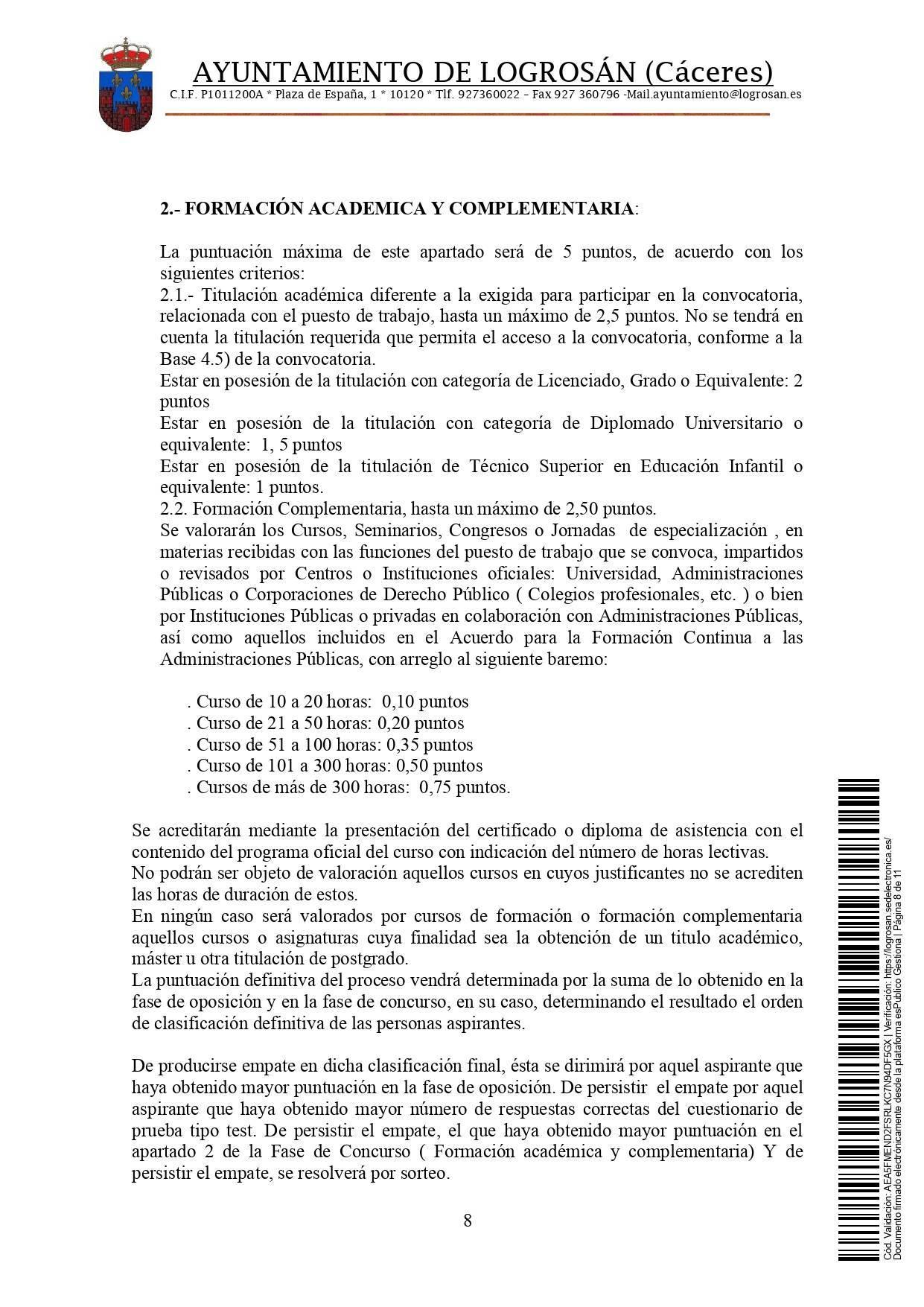 Bolsa de técnicos-as en educación infantil (2021) - Logrosán (Cáceres) 8