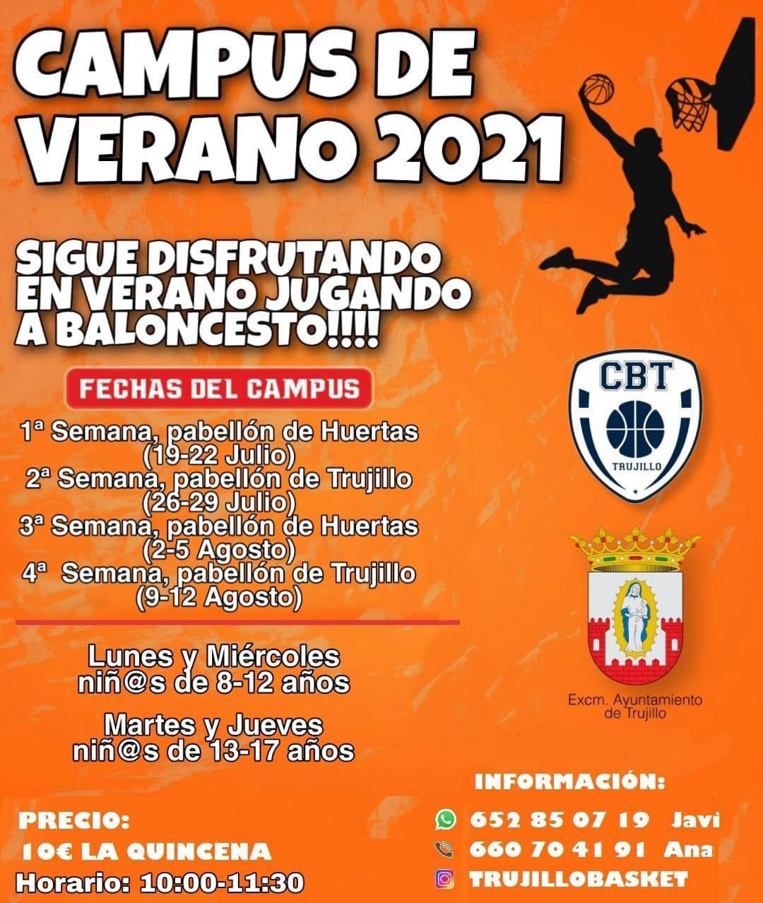 Campus de verano (2021) - Huertas de Ánimas (Cáceres) y Trujillo (Cáceres)