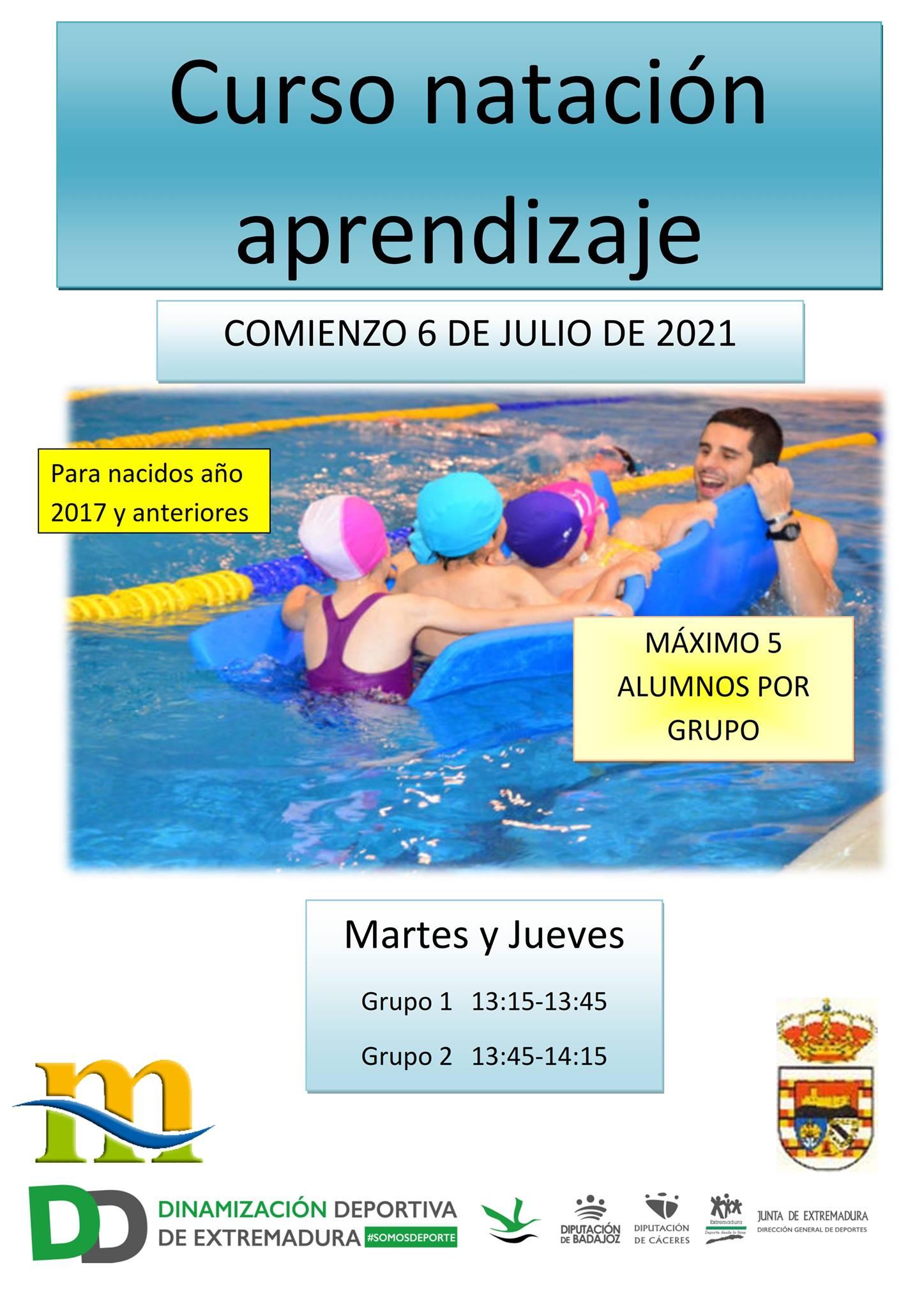 Curso de natación de aprendizaje (2021) - Puebla de Alcocer (Badajoz)