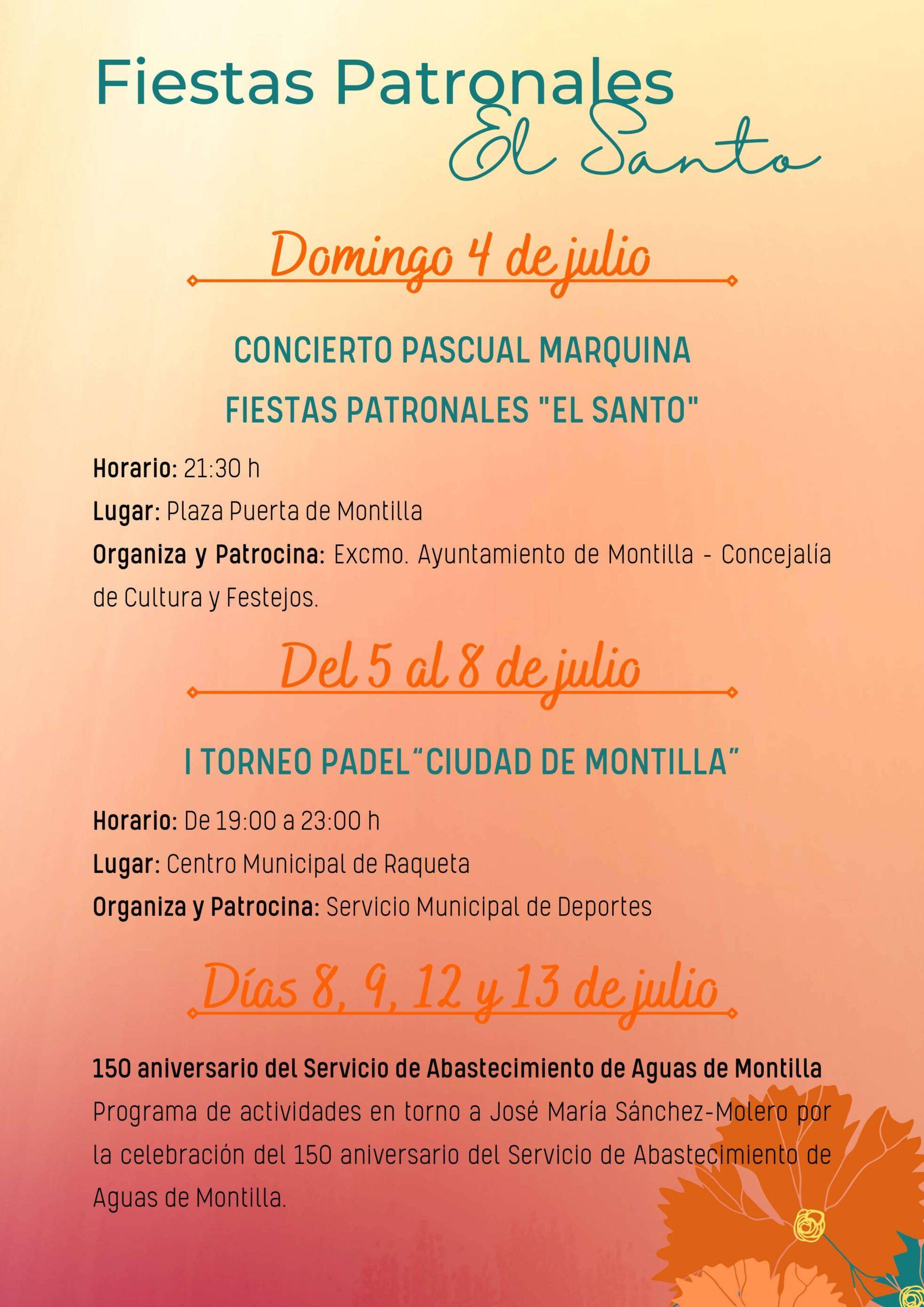Fiestas patronales de El Santo (2021) - Montilla (Córdoba) 4