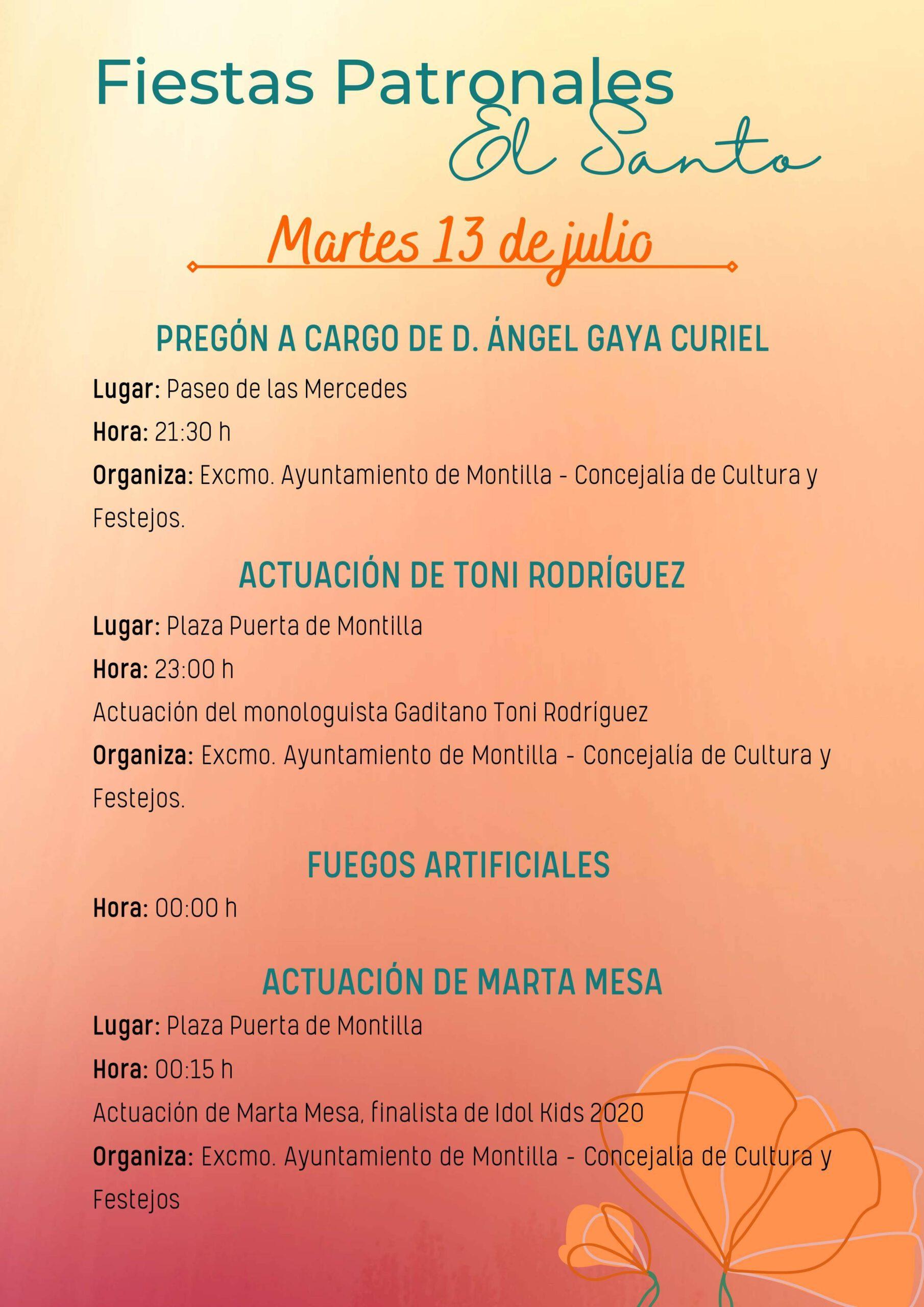 Fiestas patronales de El Santo (2021) - Montilla (Córdoba) 7