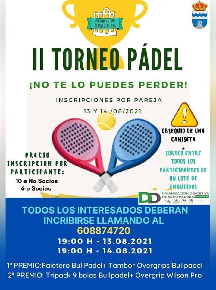 II torneo de pádel - Bohonal de Ibor (Cáceres)