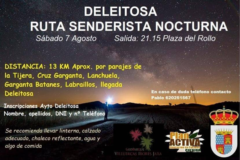 Ruta senderista nocturna (2021) - Deleitosa (Cáceres)