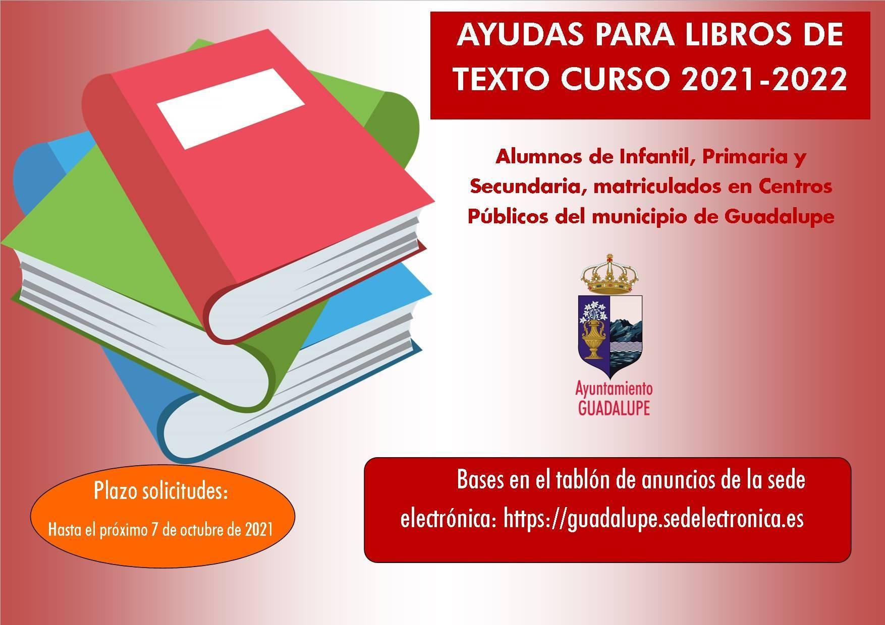 Ayudas para libros de texto curso 2021-2022 - Guadalupe (Cáceres) 1