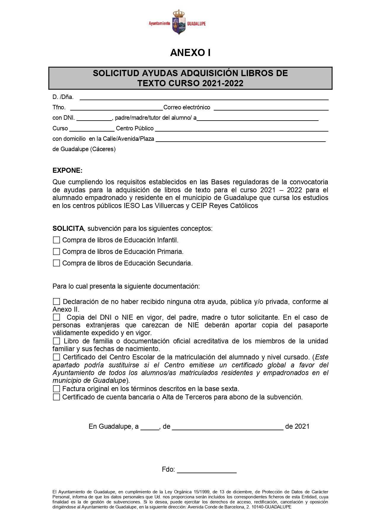 Ayudas para libros de texto curso 2021-2022 - Guadalupe (Cáceres) 7