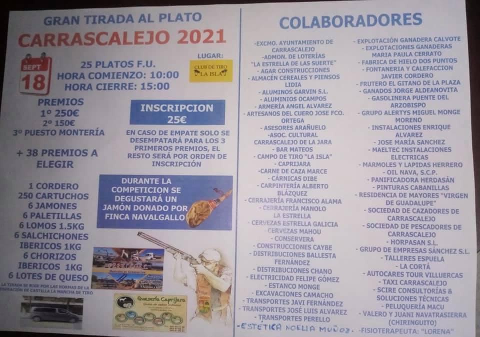 Gran tirada al plato (2021) - Carrascalejo (Cáceres)