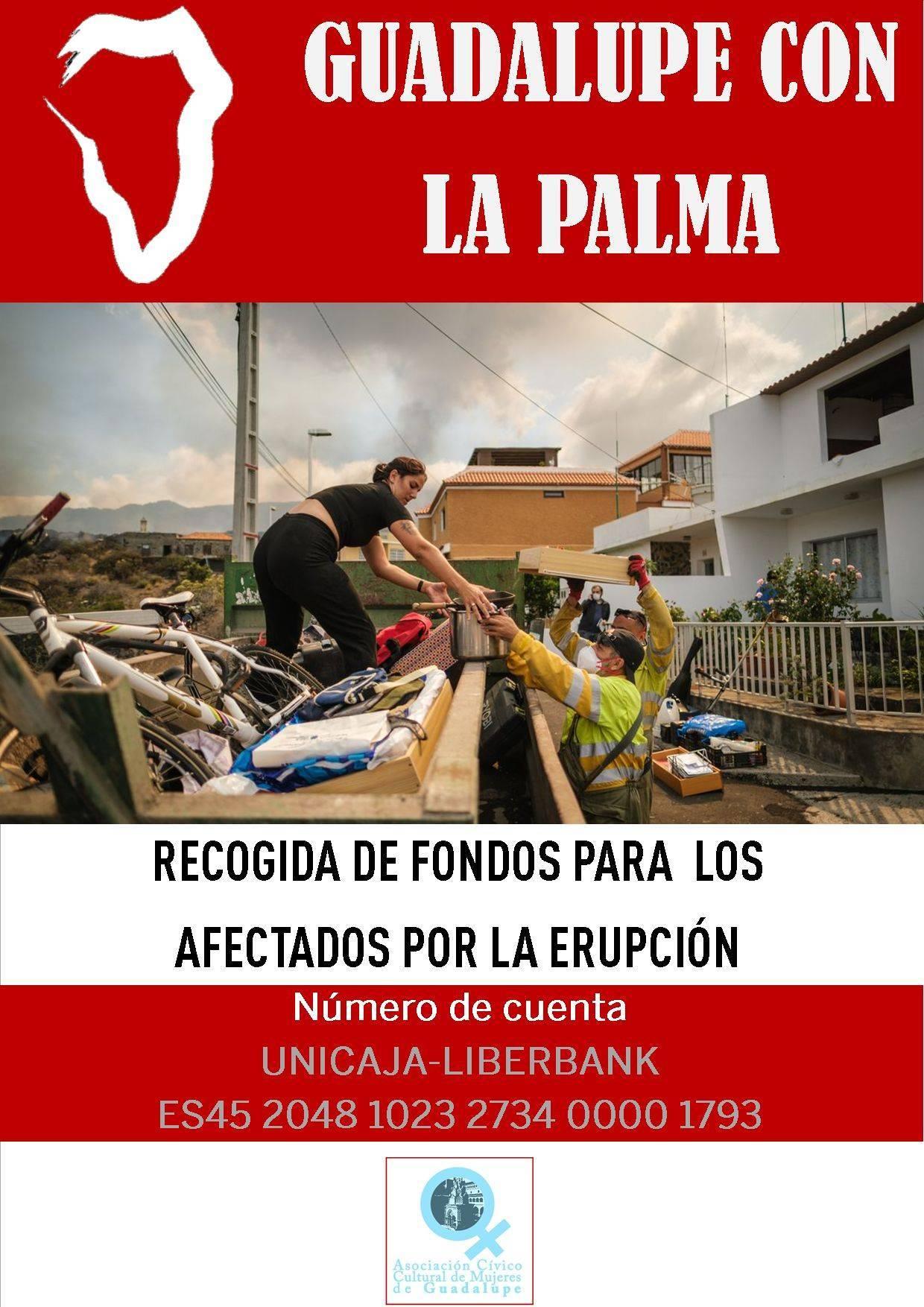 Recogida de fondos para los afectados por la erupción del volcán (2021) - Guadalupe (Cáceres)