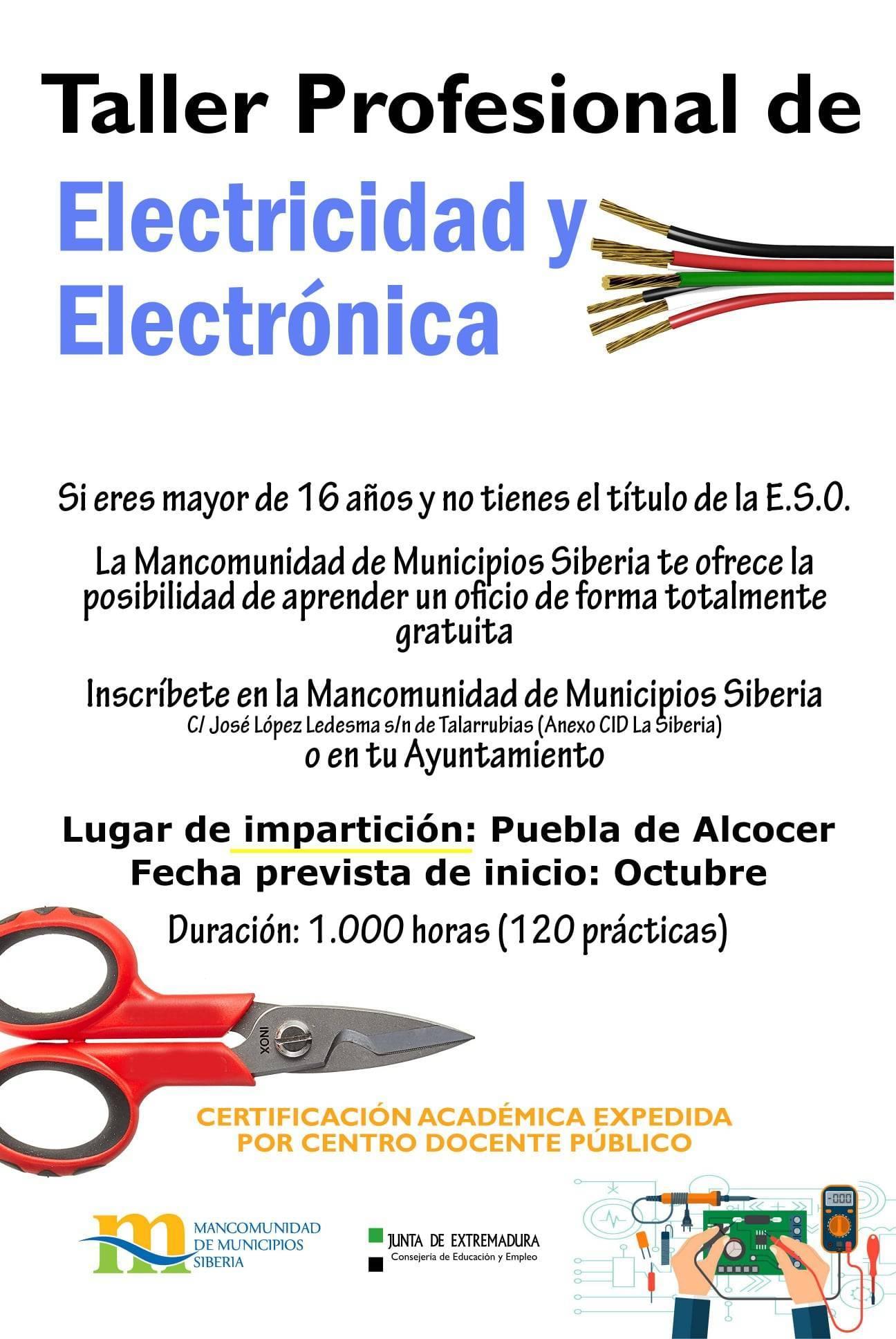 Taller profesional de electricidad y electrónica (2021) - Puebla de Alcocer (Badajoz)