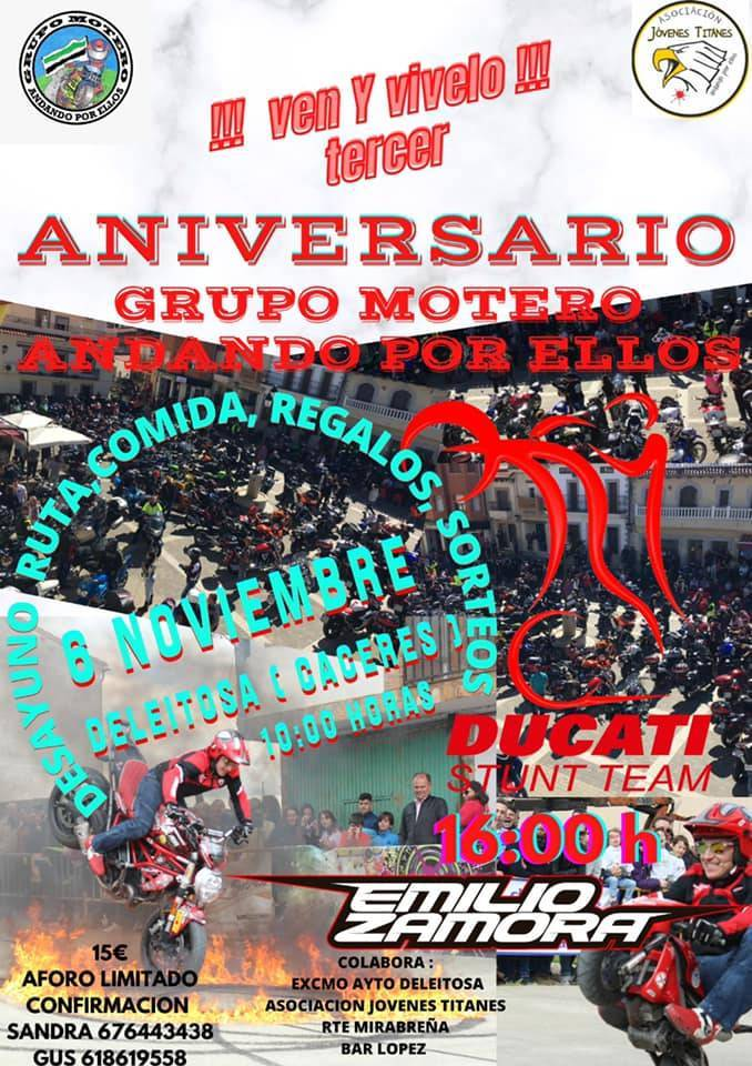 Aniversario del grupo motero Andando por Ellos (2021) - Deleitosa (Cáceres)
