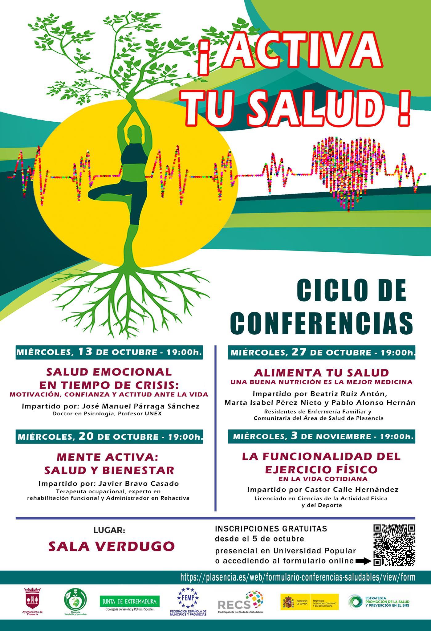Ciclo de conferencias (octubre y noviembre 2021) - Plasencia (Cáceres)