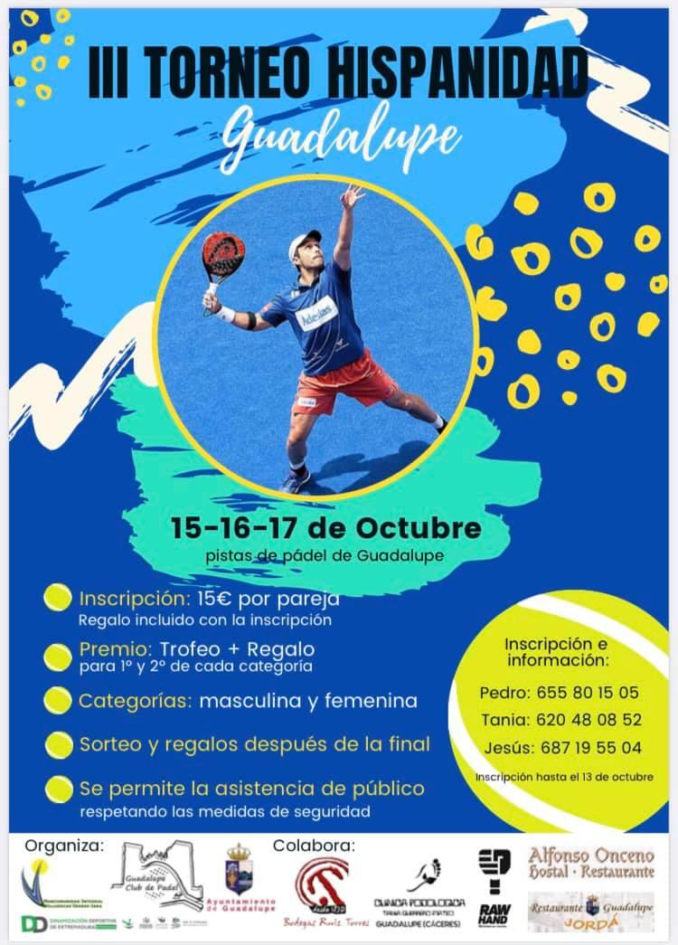 III torneo de pádel 'Hipanidad' - Guadalupe (Cáceres)