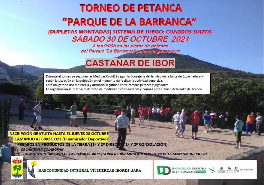 Torneo de petanca (octubre 2021) - Castañar de Ibor (Cáceres)